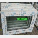 Plastové okno 90x80 bílé zvolene-provedeni leve 90/80os1b