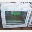 Plastové okno 100x90 bílé zvolene-provedeni leve 100/90os1b