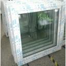 Plastové okno 100x100 bílé zvolene-provedeni leve 100/100os1b
