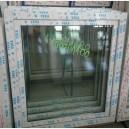 Plastové okno 100x110 bílé zvolene-provedeni leve 100/110os1b