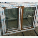 Plastové okno 120x100 zlatý dub 120/100os2zd