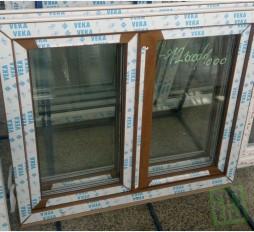 Plastové okno 120x100 zlatý dub