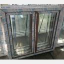 Plastové okno 120x120 zlatý dub 120/120os2zd