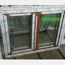 Plastové okno 120x110 zlatý dub 120/110os2zd