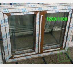 Plastové okno 120x110 zlatý dub