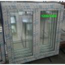 Plastové okno 120x140 bílé 120/140os2b