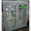 Plastové okno 120x150 bílé 120/150os2b