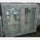 Plastové okno 130x130 bílé 130/130os2b