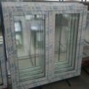 Plastové okno 130x140 bílé 130/140os2b