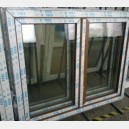Plastové okno 140x120 zlatý dub 140/120os2zd