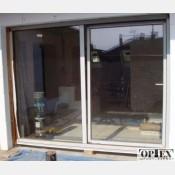 Francouzské okno posuvné 200x210 Zlatý dub 200/210FOzd