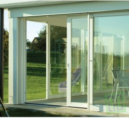 Francouzské okno posuvné 180x210 Bílé