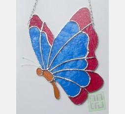 Závěsná vitráž Motýl 22x26
