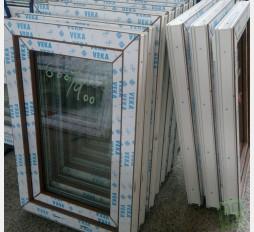 Plastové okno 60x90 zlatý dub
