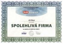 Certifikát Spolehlivá firma