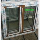 Plastové okno 120x130 zlatý dub