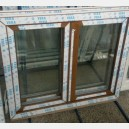 Plastové okno 130x100 zlatý dub