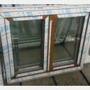 Plastové okno 130x130 zlatý dub
