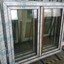 Plastové okno 140x130 zlatý dub