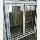 Plastové okno 150x150 zlatý dub