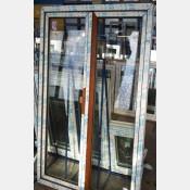 Balkonové dveře 120x200 os2-zlatý dub