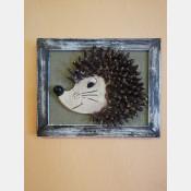 3D obraz ježek