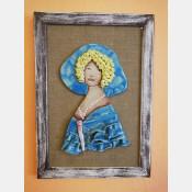 3D obraz dáma sv. modrá