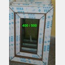 Plastové okno 40x50 zlatý dub