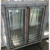 Plastové okno 100x120 os2-zlatý dub